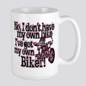Got My Own Biker Large Mug
