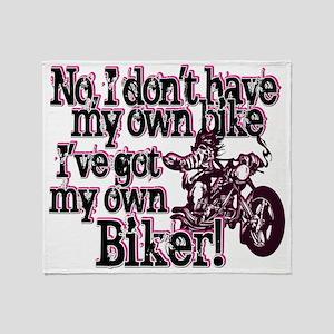 Got My Own Biker Throw Blanket