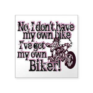 Funny Bike Square Stickers - CafePress e275db896