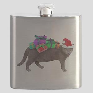 Santa Cat Presents Flask