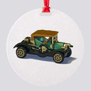 Model Car Round Ornament