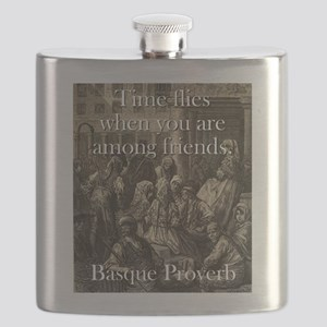 Time Flies When - Basque Proverb Flask