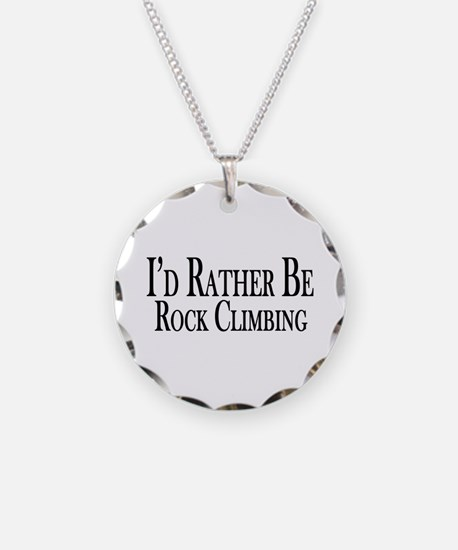 Rather Be Rock Climbing Necklace