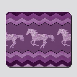 Purple Paisley Horse Mousepad