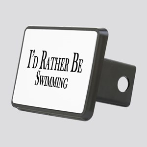 Rather Be Swimming Rectangular Hitch Cover