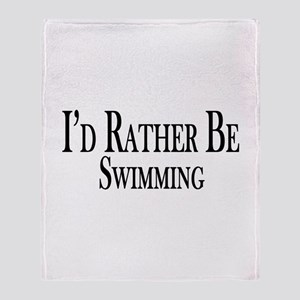 Rather Be Swimming Throw Blanket