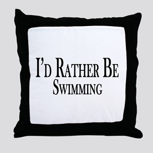 Rather Be Swimming Throw Pillow