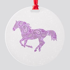 Purple Paisley Horse Ornament