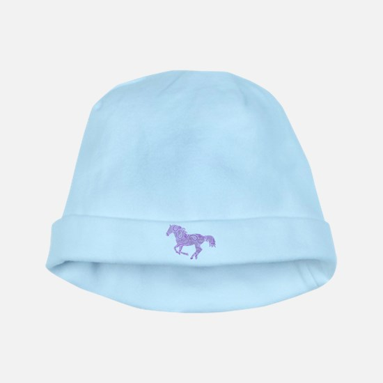 Purple Paisley Horse baby hat