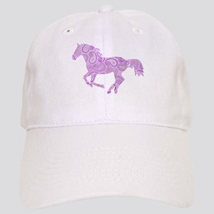 Purple Paisley Horse Baseball Cap