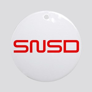 snsd-saved-red Ornament (Round)