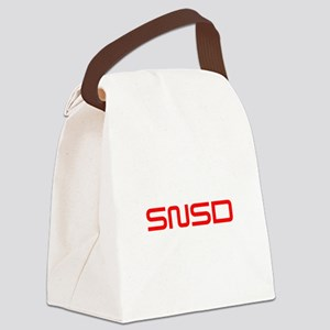 snsd-saved-red Canvas Lunch Bag