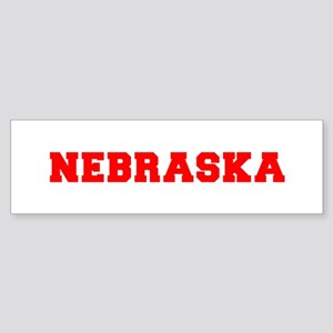 nebraska-fresh-red Bumper Sticker