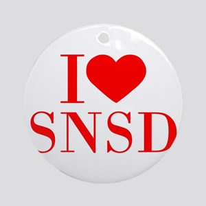 I-love-snsd-bod-red Ornament (Round)
