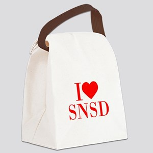 I-love-snsd-bod-red Canvas Lunch Bag
