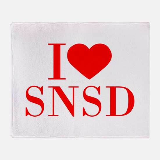 I-love-snsd-bod-red Throw Blanket