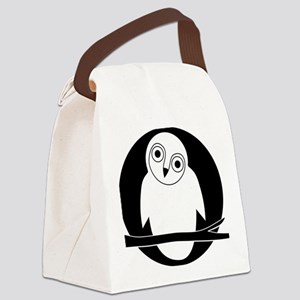 owl eule owlet kauz moon mond Canvas Lunch Bag
