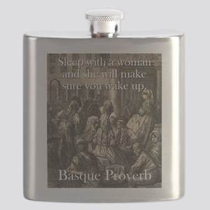 Sleep With A Woman - Basque Proverb Flask
