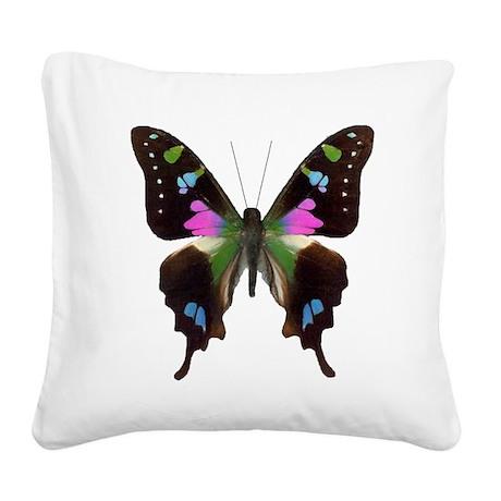 Purple Gem Square Canvas Pillow