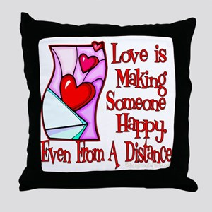 Love Is Making Throw Pillow