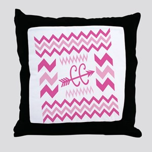 PINKs Cross Country ZigZags Throw Pillow