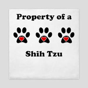 Property Of A Shih Tzu Queen Duvet