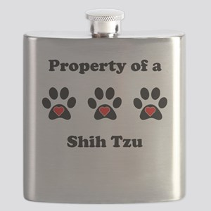 Property Of A Shih Tzu Flask