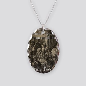 Life Without Friends - Basque Proverb Necklace Ova