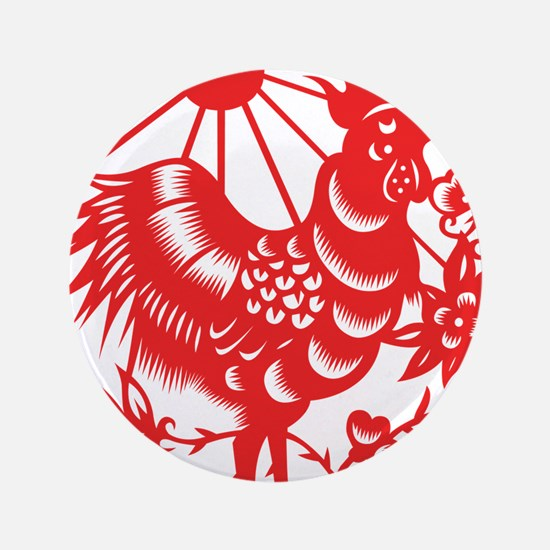 """Zodiac, Year of the Rooster 3.5"""" Button (100 pack)"""