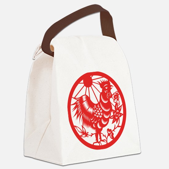 Zodiac, Year of the Rooster Canvas Lunch Bag