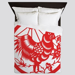 Zodiac, Year of the Rooster Queen Duvet