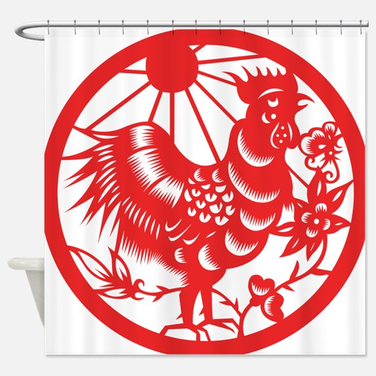 Zodiac, Year of the Rooster Shower Curtain