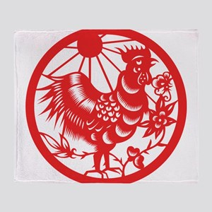Zodiac, Year of the Rooster Throw Blanket
