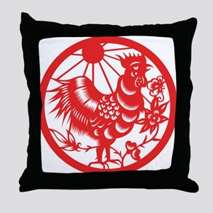Zodiac, Year of the Rooster Throw Pillow