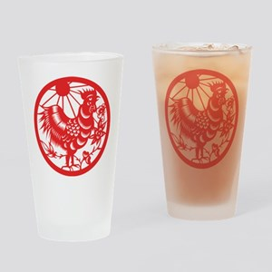 Zodiac, Year of the Rooster Drinking Glass