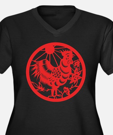 Zodiac, Year of the Rooster Plus Size T-Shirt