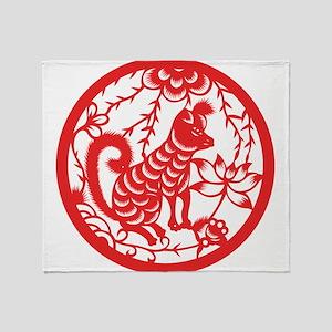 Zodiac, Year of the Dog Throw Blanket
