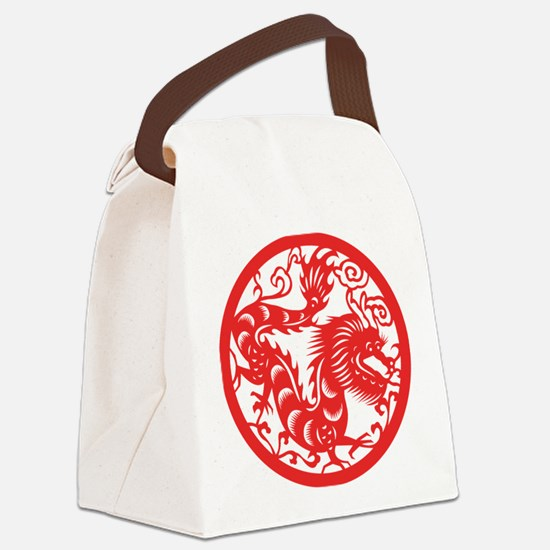 Zodiac, Year of the Dragon Canvas Lunch Bag