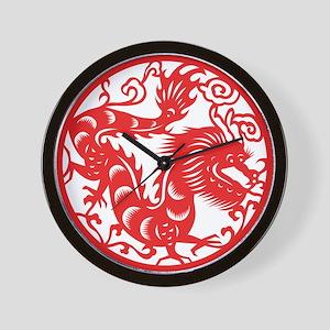Zodiac, Year of the Dragon Wall Clock