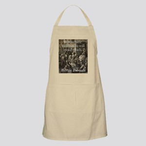 If You Have Much - Basque Proverb Light Apron