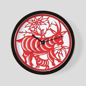 Zodiac, Year of the Goat Wall Clock