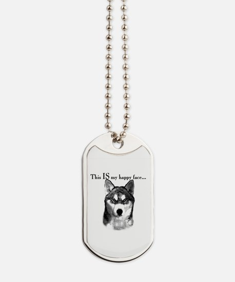 Sibe Happy Face Dog Tags