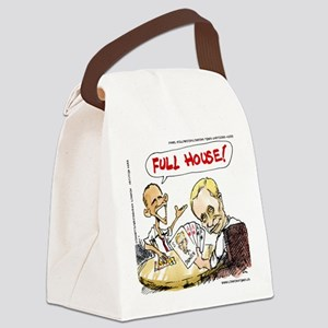 Putin And Obama Poker Canvas Lunch Bag