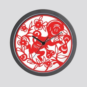 Zodiac, Year of the Monkey Wall Clock