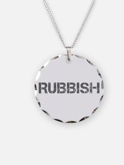 rubbish-CAP-GRAY Necklace