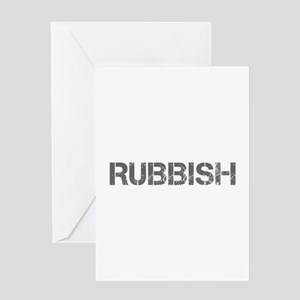 rubbish-CAP-GRAY Greeting Cards