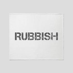 rubbish-CAP-GRAY Throw Blanket