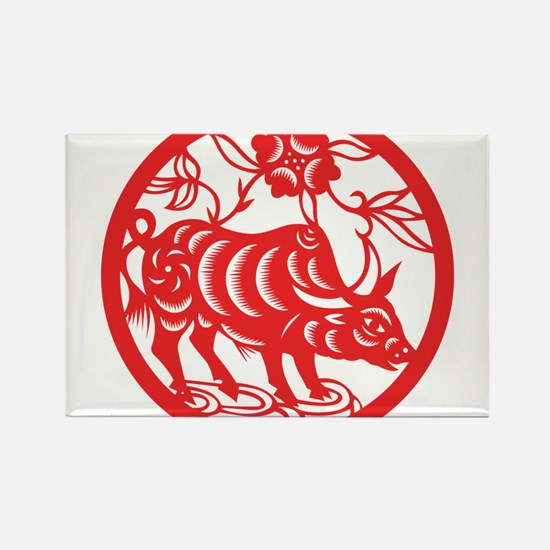 Zodiac, Year of the Ox Magnets