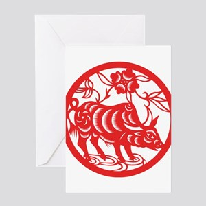 Zodiac, Year of the Ox Greeting Cards