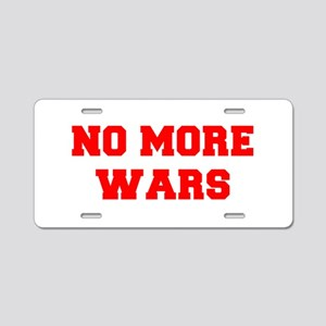 NO-MORE-WARS-FRESH-RED Aluminum License Plate